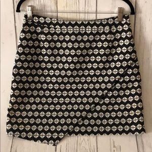 H&M Geometric Structured Mini Skirt size 10